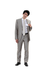 Man holding business-card