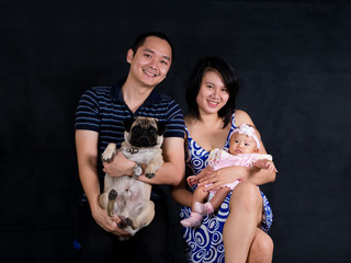 Family Picture with pug