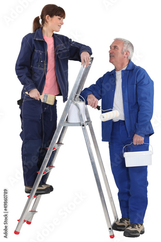 A painter and his apprentice.