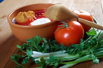 red-beet soup (borscht)