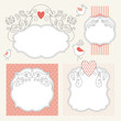 Set of romantic elegance frames
