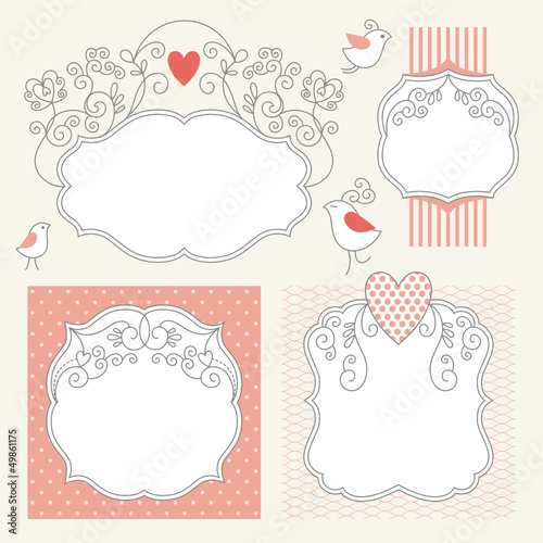 Set of romantic elegance frames