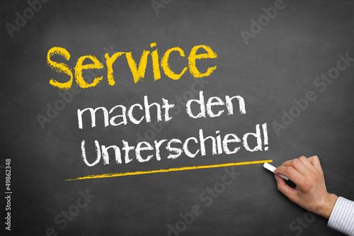 Service macht den Unterschied