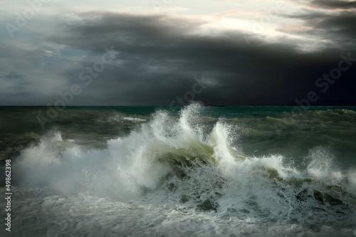Plakat View of storm seascape