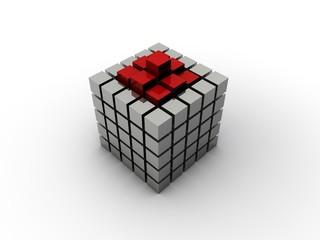 Würfel Cube Einheit Lösung kleine Würfel