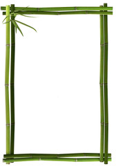 Bambusrahmen grün senkrecht