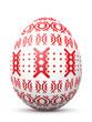 Osterei, Muster, Ostern, Punkte, Rot, Design, Vorlage, bemalt