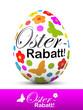 Osterei, Ostern, Osterrabatt, Werbung, Aktion, Angebot, Rabatt