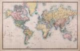 Stare antyczne mapy świata na rzutach merkatora