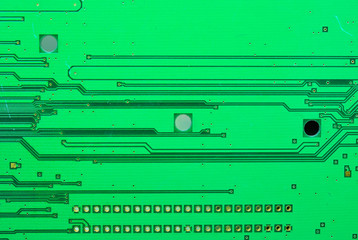 Close up on a part of the old electronic circuit boards texture