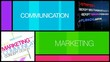 Communication Marketing colored windows animation