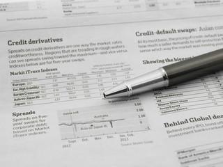 Pen on the stock market