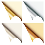 Set Of 4 Web Corners Metallic Angled