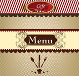 Elegant menu design for cafe