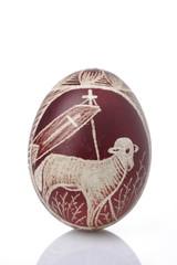 jajo-pisanka świąteczna na Wielkanoc