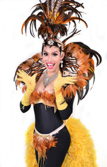cabaret dancer isolated