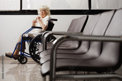Senior Woman On Wheelchair