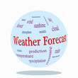 WEB ART DESIGN TAG CLOUD WEATHER FORECAST SUNSHINE RAIN 100