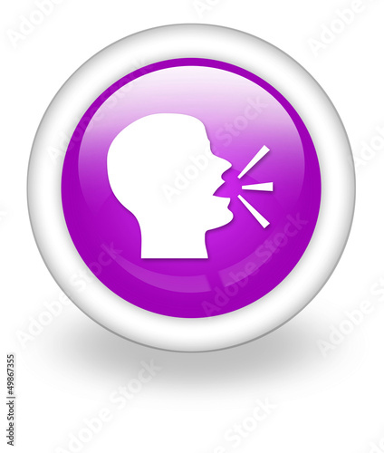 "Violet Icon ""Talking Head / Forum / Discussion"""