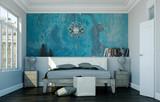 Fototapety modernes Schlafzimmer in Altbau-Wohnung