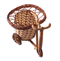 Wicker bicycle.