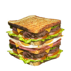 toast steack bacon oeuf