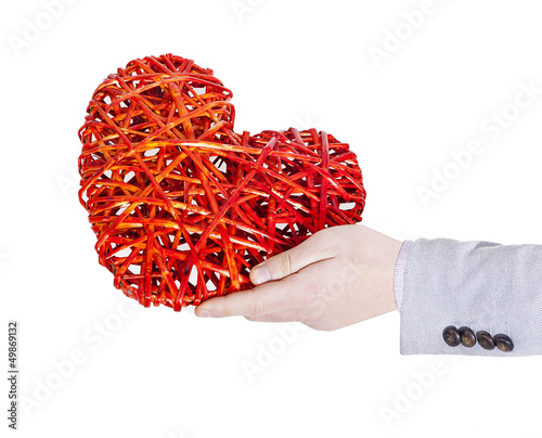 man who maintains a heart twisted with a hand