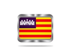 Metal Baleares flag.