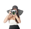 Young Vintage Female Photographer