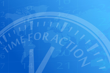 Time for action vector background illustration