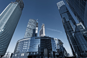 glass skyscraper in the Moscow City