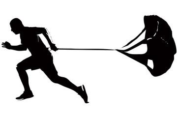 Running Parachute