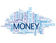"""MONEY"" Tag Cloud (finance investment bank cash wealth currency)"