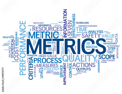 """METRICS"" Tag Cloud (statistics data figures graphical analysis)"