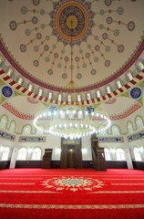Mosque dome and interior details