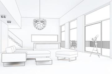 Loft 2 3D CAD Rendering