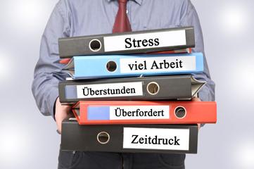 Stress viel Arbeit