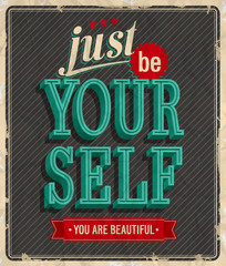 Vintage card - Just be your self