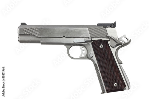 Leinwanddruck Bild 45 Caliber Handgun