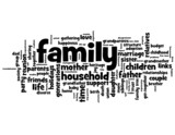 FAMILY Tag Cloud (father mother parents baby children)
