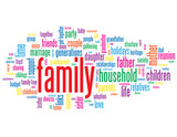 FAMILY Tag Cloud (household father mother parents baby children)