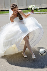 Bride of the soccer player.
