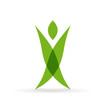 Vector Logo green man