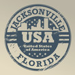 Grunge rubber stamp with name of Florida, Jacksonville, vector