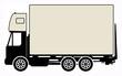 Cargo truck sign, vector illustration