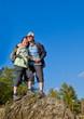 Seniorenehepaar beim Wandern / autumn hiking 21