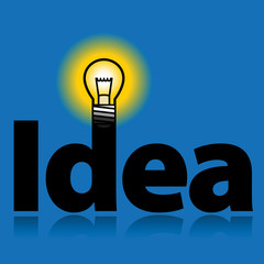 Light bulb - idea, vector illustration