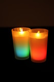 decorative colored candle
