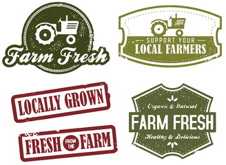 Vintage Farm Fresh and Market Stamps