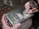 silversmith affecting silver box
